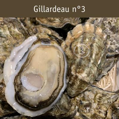 Gillardeau n°3 ouverte, sur plateau