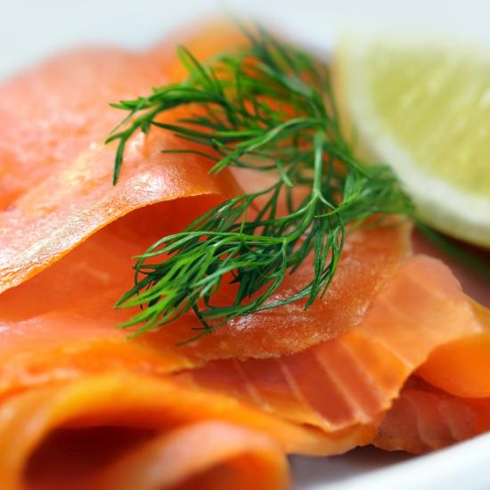 Planche de saumon fumé